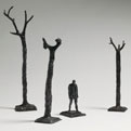 Maquette for sculpture, Figure in a landscape