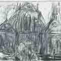 Drawing for Passing Faces, St Nicolas des Champs, Paris