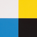 m. untitled (white yellow black blue)